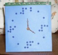 Are you looking for a fun and inventive gift to make for a friend? Here's our idea for a beautiful Braille Clock - and you'll be amazed at how easy it is!