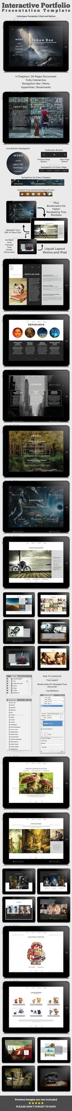 Interactive Portfolio Prezentation Tempalte #design Download: http://graphicriver.net/item/interactive-portfolio-prezentation/12862947?ref=ksioks