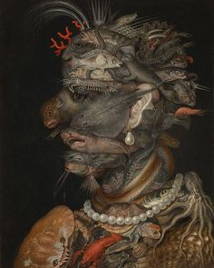 Water Giuseppe Arcimboldo 1566  The Milan-born painter Giuseppe Arcimboldo who numbered several archbishops of that city among his ancestors was early in the employ of the later Emperor Ferdinand I working with his father on the decoration of Milan Cathedral. Starting in 1562 he was imperial court painter in Vienna and Prague. In addition to his work as a portraitist he was praised for his achievements as director and decorator of courtly tournaments and wedding celebrations. However in 1563…