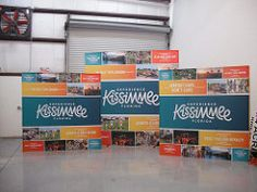 Hop up displays for Experience Kissimmee.   www.pinnaclesignworks.com  407-322-7733