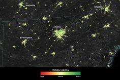 What holiday lights look like from space – Quartz