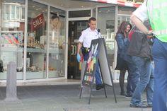 Juwelier Jan Eef (op dezelfde plek waar juwelier Fred Hund in 2010 is doodgeschoten) opnieuw overvallen!  Foto's Copyright Crimescene.PRO - Tessa van der Eng