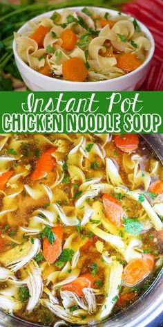 Instant pot recipes 157555686952656288 - Instant Pot Chicken Noodle Soup – tender chunks of chicken in a rich homemade chicken broth with big hearty veggies. Homemade Instant Pot chicken noodle soup from scratch in less than an hour. Source by itsmelissa Best Instant Pot Recipe, Instant Pot Dinner Recipes, Easy Dinner Recipes, Chicken Recipe Instant Pot, Summer Crock Pot Recipes, Crock Pot Dinners, Instant Pot Meals, Instant Pot Chinese Recipes, Instant Pot Veggies
