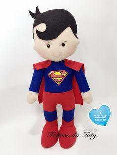 Feltro Fácil Moldes e Apostilas: Molde Superman em feltro!
