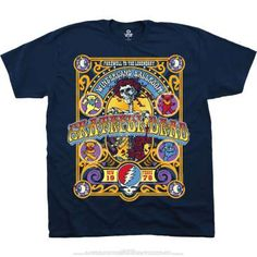 e11176d7647 Cruz PerezTshirts · Grateful Dead Closing Of Winterland Navy T-Shirt Hippie  Outfits