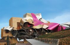 For no other reason than it is pink and totally weird! Hotel Marqués De Riscal, Elciego, Spain   - Explore the World with Travel Nerd Nici, one Country at a Time. http://TravelNerdNici.com