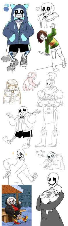 Undertale WIP and Sketchdump by Itachei.deviantart.com on @DeviantArt