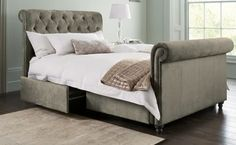 Our gorgeous Westcott bed is definitely fit for a queen, and comes with handy underbed storage!