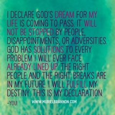 Obsessed with this. What an awesome declaration! I'm gonna say this every day!