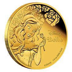 1/4 oz. Pure Gold Coin – Disney Princess – Belle (2015)