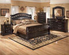 Ashley Furniture Bedroom Sets Black ashley furniture bedroom set, black contemporary | bed room