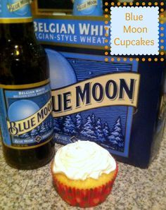 blue moon cupcakes...my favorite beer put into a cupcake!?! that's amazing and i am going to have to try this recipe.