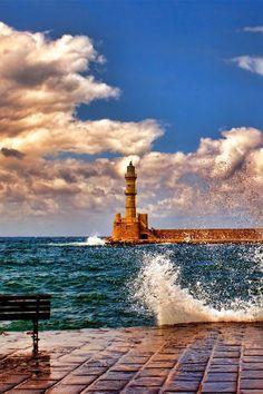 Hania lighthouse, Crete, Greece - via Erica Perez L.