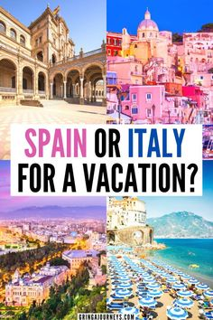 Learn about whether you should visit Spain or Italy for a vacation, including popular destinations in Spain and Italy as well as costs, food, and activities. | italy vs spain travel cost | is italy better than spain | spain vs italy culture | italy vs spain economy | southern spain vs southern Italy | spain vs italy travel | italy or spain vacation | italy vs spain highlights | best time to travel to spain and Italy | spain vs italy highlights