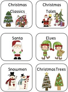 Christmas Book Bin Labels and Book Lists for Classroom Library - 70 pages$ http://www.teacherspayteachers.com/Product/Christmas-Book-Bin-Labels-and-Book-Lists-for-Classroom-Library-70-pages-384442