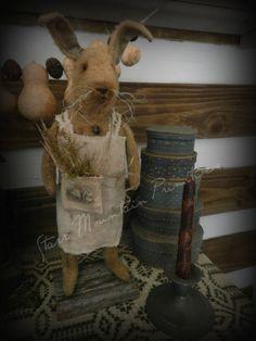 Primitive Spring Bunny Rabbit Starr Mountain Primitives  http://www.ebay.com/itm/361528618909?ssPageName=STRK:MESELX:IT&_trksid=p3984.m1555.l2649