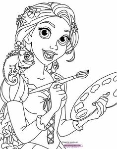 Pretty Image of Rapunzel Coloring Pages . Rapunzel Coloring Pages Disneys Tangled Coloring Pages Disneyclips Rapunzel Coloring Pages, Disney Coloring Sheets, Disney Princess Coloring Pages, Disney Princess Colors, Disney Colors, Cute Coloring Pages, Cartoon Coloring Pages, Animal Coloring Pages, Coloring Pages To Print