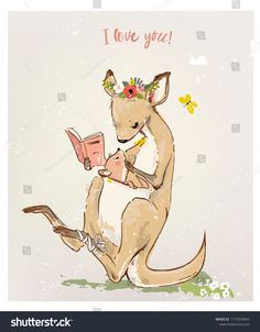 Find kangaroo stock images in HD and millions of other royalty-free stock photos, illustrations and vectors in the Shutterstock collection. Thousands of new, high-quality pictures added every day. Cute Illustration, Little Baby Images, Little Babies, Book Drawing, Drawing For Kids, Kangaroo Drawing, Baby Animals, Cute Animals, Animals