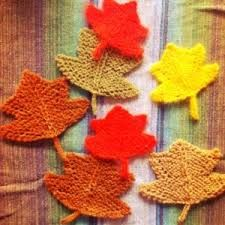 Image result for knitted leaves
