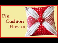 A different way to make my favourite pincushion! Looks easier than Moda's, I need to try it.