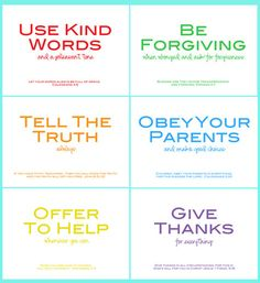 family rules printable w/ Bible verses by PerfectSentiment on Etsy