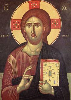 Φώτης Κόντογλου Savior, Jesus Christ, Prayer For Church, Byzantine Art, Orthodox Christianity, Greek Art, Religious Icons, Son Of God, Orthodox Icons