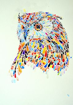 Ana Enshina Colorful dotted animals on Behance