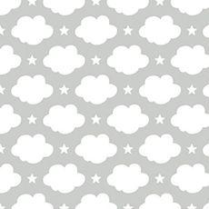 Papier peint enfant nuages et étoiles