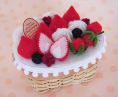 Felt Fruit, Felt Food, Raspberry, Desserts, Tailgate Desserts, Deserts, Postres, Raspberries, Dessert