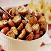 Crispy Pesto Potatoes.