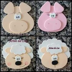 Caretas de animales con Goma EVA Pig Crafts, Foam Crafts, Diy And Crafts, Crafts For Kids, Arts And Crafts, Paper Crafts, My Busy Books, Animal Cutouts, Bible School Crafts