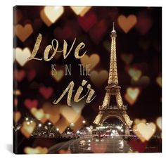 Icanvas 'Love Is In The Air' Giclee Print Canvas Art ($83) ❤ liked on Polyvore featuring home, home decor, wall art, black, black wall art, eiffel tower wall art, black canvas wall art, canvas home decor and giclee wall art