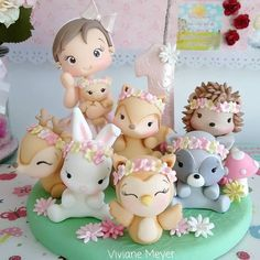 1 million+ Stunning Free Images to Use Anywhere Cute Polymer Clay, Cute Clay, Polymer Clay Crafts, Woodland Cake, Fondant Animals, Baby Birthday Cakes, Fondant Toppers, Modeling Chocolate, Sugar Flowers