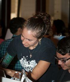 Julie helping the Engineers @GE embrace their inner ARTIST