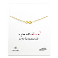 infinite love bracelet #dogeared #infinity #love