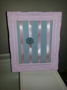 Homemade by me! Organiser for Holly's hair clips x