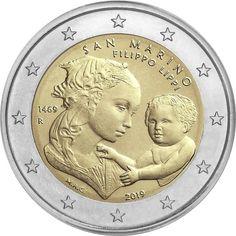 2 euro coin Anniversary of the Death of Filippo Lippi