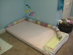 Floor Bed - quilted snake and mobile