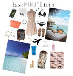 """""""Maldives Last Minute Trip💙🏝🌺🌴👙"""" by gloria-camino on Polyvore featuring moda, H&M, Billabong, Nine West, Casetify, Happy Plugs, Shiseido, Hollister Co., Pieces e Natural Life"""