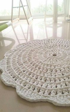 Items similar to crochet rug - round rug - cotton rug - crochet carpet - flower rug - white . - Items similar to crochet rug – round rug – cotton rug – crochet carpet – flower rug – wh - Crochet Doily Rug, Crochet Carpet, Crochet Rug Patterns, Crochet Home, Crochet Crafts, Crochet Projects, Knit Crochet, Cotton Crochet, Crochet Flower