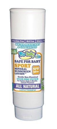 TruBaby Water, 16 oz  Summer Family Size: Safe for Baby SPF 30+ WR/Unscented Mineral Sunscreen (no Vit A)   $81.00