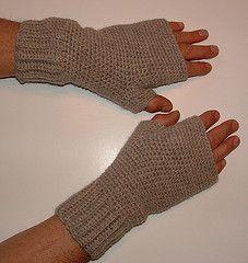 Men's Fingerless Gloves Modeled