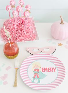Adorable Pink Superh