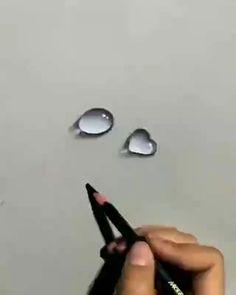 Art Drawings Beautiful, Art Drawings Sketches Simple, Pencil Art Drawings, Digital Painting Tutorials, Art Tutorials, Polychromos, 3d Art Drawing, Cute Doodle Art, Mandala Art Lesson