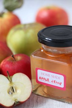 Apple Jelly is a versatile preserve that& simple to make and perfect for using up a glut of apples. Use as a delicious alternative to redcurrant jelly Jelly Recipes, Apple Recipes, Jam Recipes, Apple Jelly, Homemade Jelly, Food Experiments, Cooked Apples, Jam And Jelly, Healthy Fruits