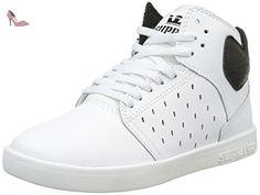 huge discount 74570 c077a Supra Atom, Sneakers Hautes Mixte Enfant, Blanc (White Black), 32 EU   Amazon.fr  Chaussures et Sacs