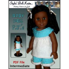Knitting Pattern fits AG American Girl and 18 by StylinDollKnitz