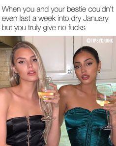 "The TipsyDrunk on Instagram: ""I wish I cared"" Dry January, I Wish, I Care, Besties, Instagram, Wish"