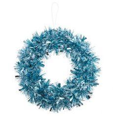 Winter Wonderland Ice Blue Tinsel Wreath