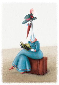 Viajamos siempre en compañía de los libros (ilustración de Barbara Cantini)
